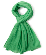 Macaw Green - Solid Crinkle Wrap