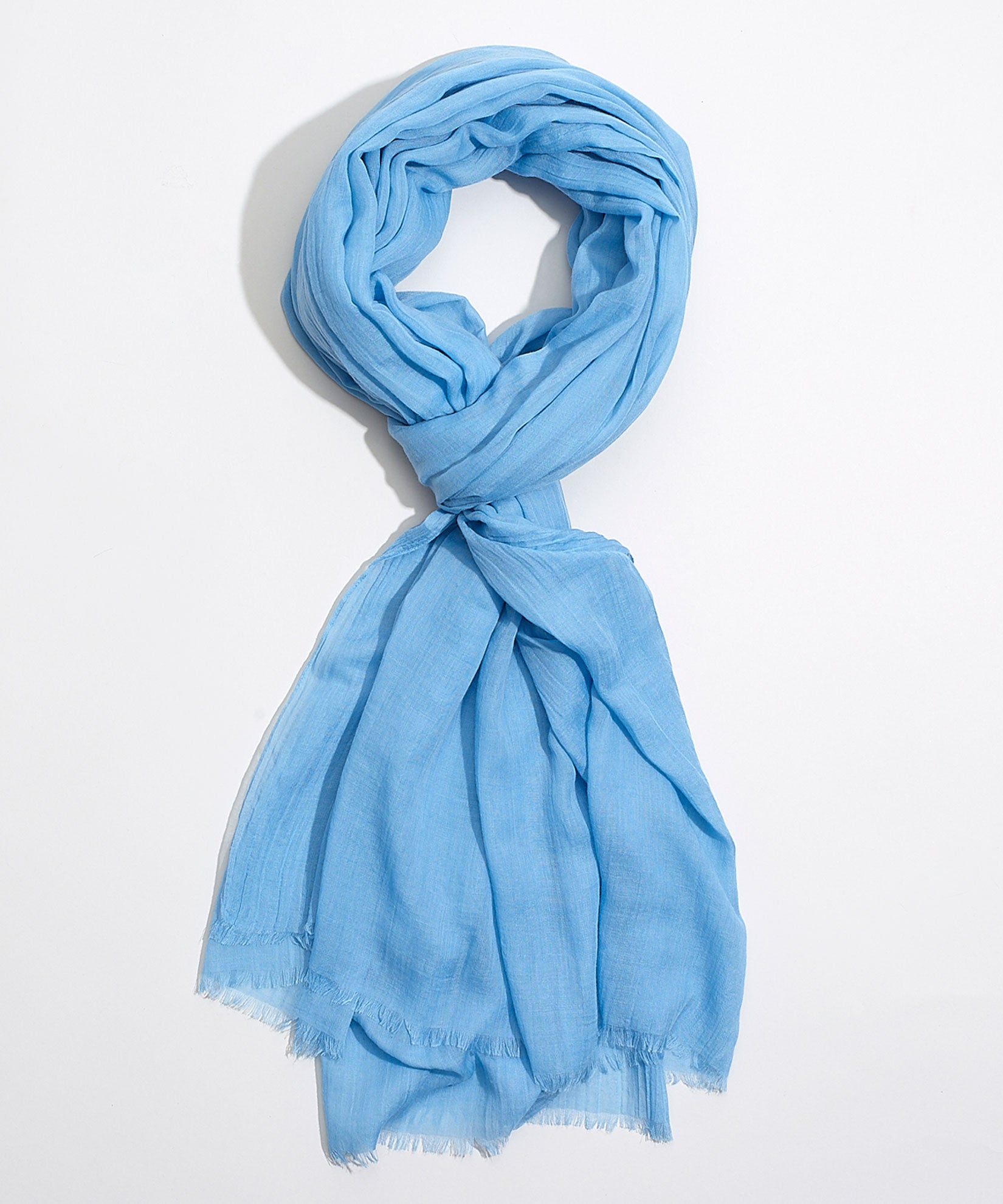 Azure - Solid Crinkle Wrap