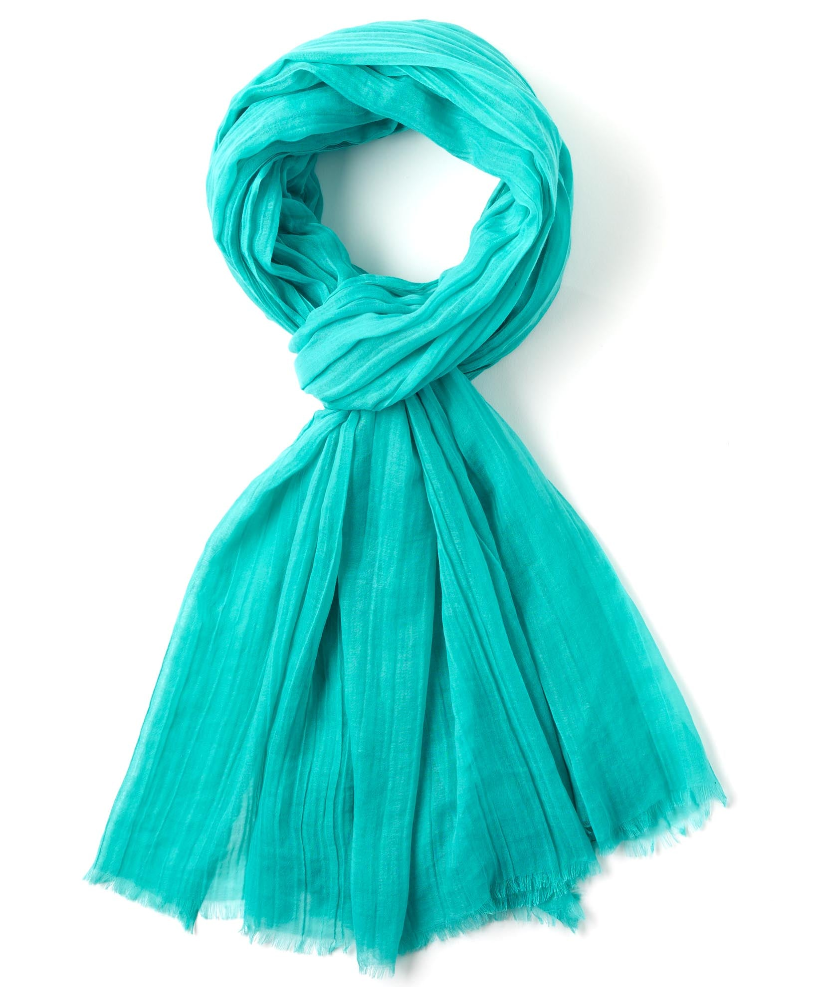 Caribbean Sea - Solid Crinkle Wrap