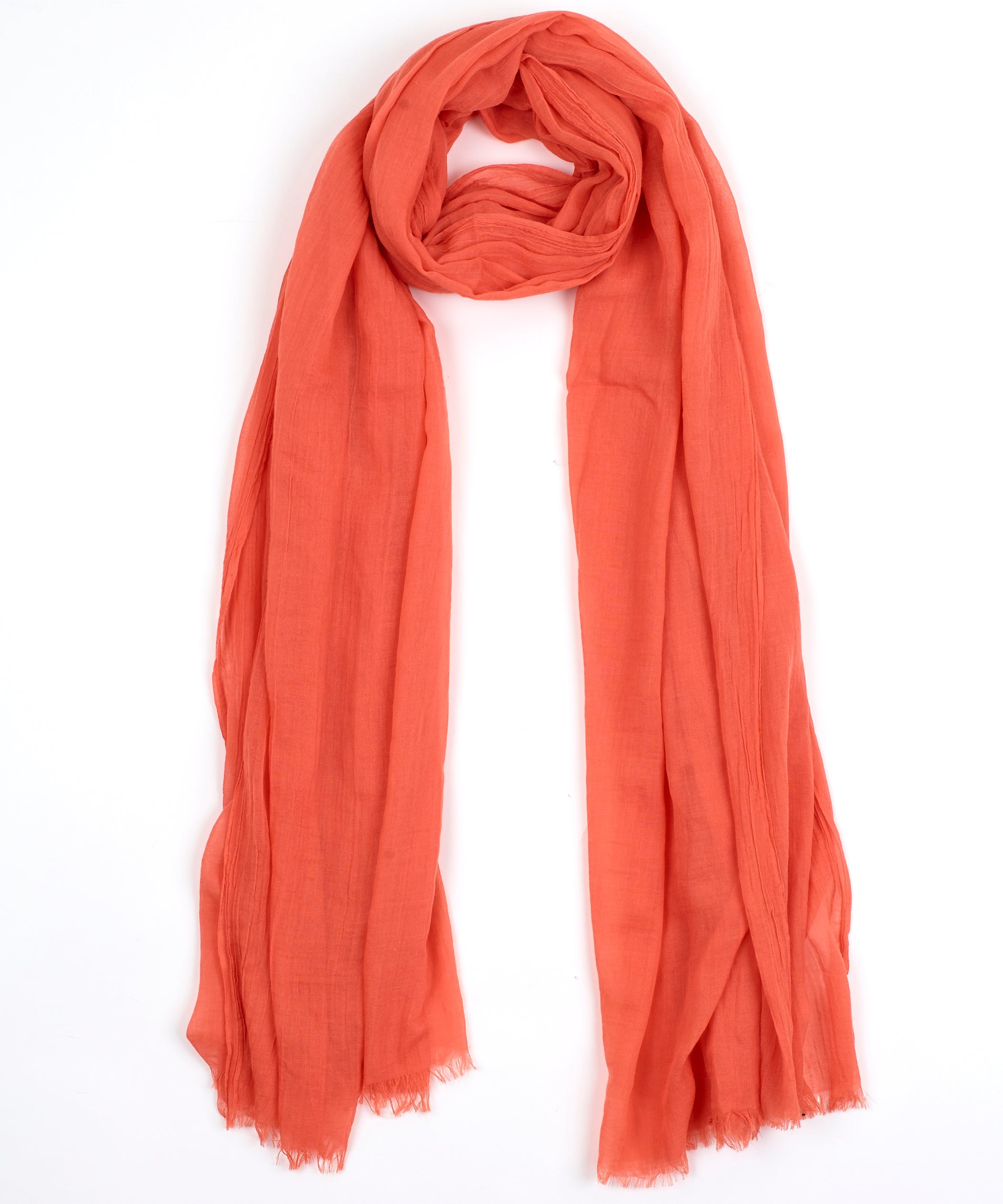 Neon Orange - Solid Crinkle Wrap