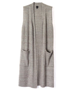 Heather Grey - Knit Cross Over Vest