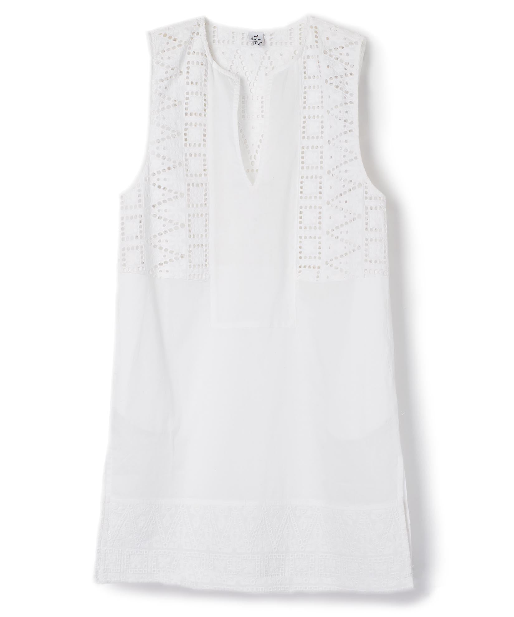 White - Coastal Eyelet Tunic