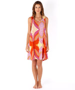 Hibiscus Pink - Havana Geo Mini Dress