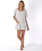 Grey/White - Jacquard Terry Dolman Tunic
