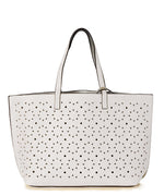 White/Silver - Sunflower Laser Cut Essex Tote