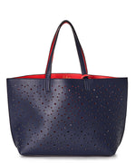 Navy/Punch Pink - Sunflower Laser Cut Essex Tote