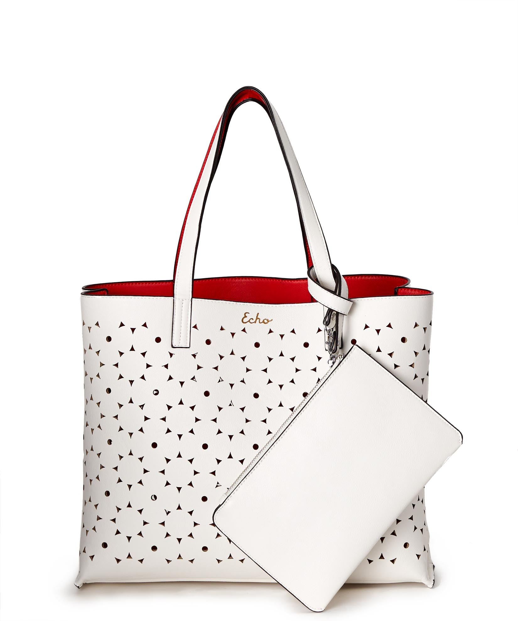 Punch Pink/White - Sunflower Laser Cut Essex Tote