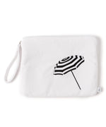 White - Umbrella Terry Bali Bikini Bag