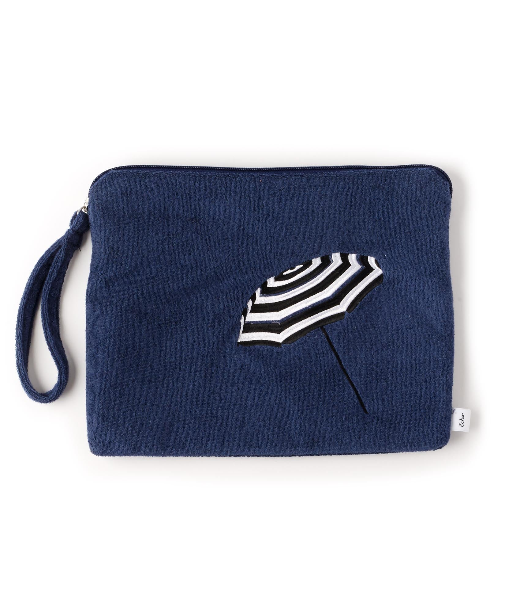 Navy - Umbrella Terry Bali Bikini Bag