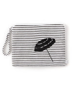 Black/White - Striped Terry Bali Bikini Bag