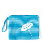 Riviera/White - Striped Terry Bali Bikini Bag