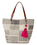 Black/White - Patchwork Tote