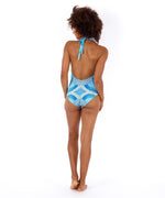 Brilliant Blue - Havana Geo Low V Back One Piece