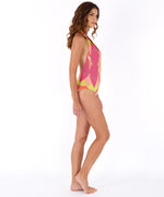 Hibiscus Pink - Havana Geo Low V Back One Piece