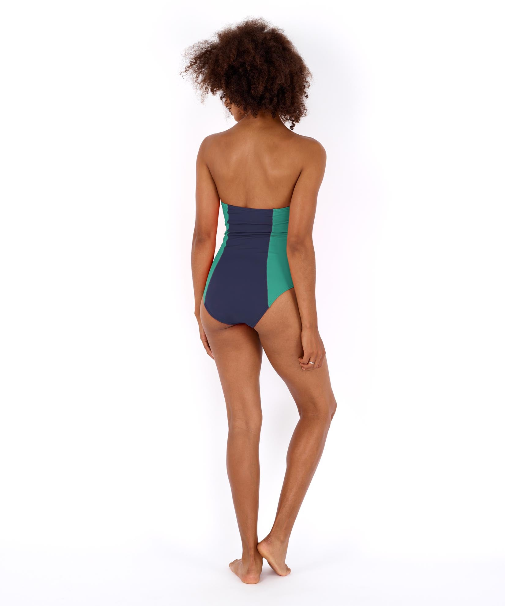 Navy - Colorblock Underwire One Piece