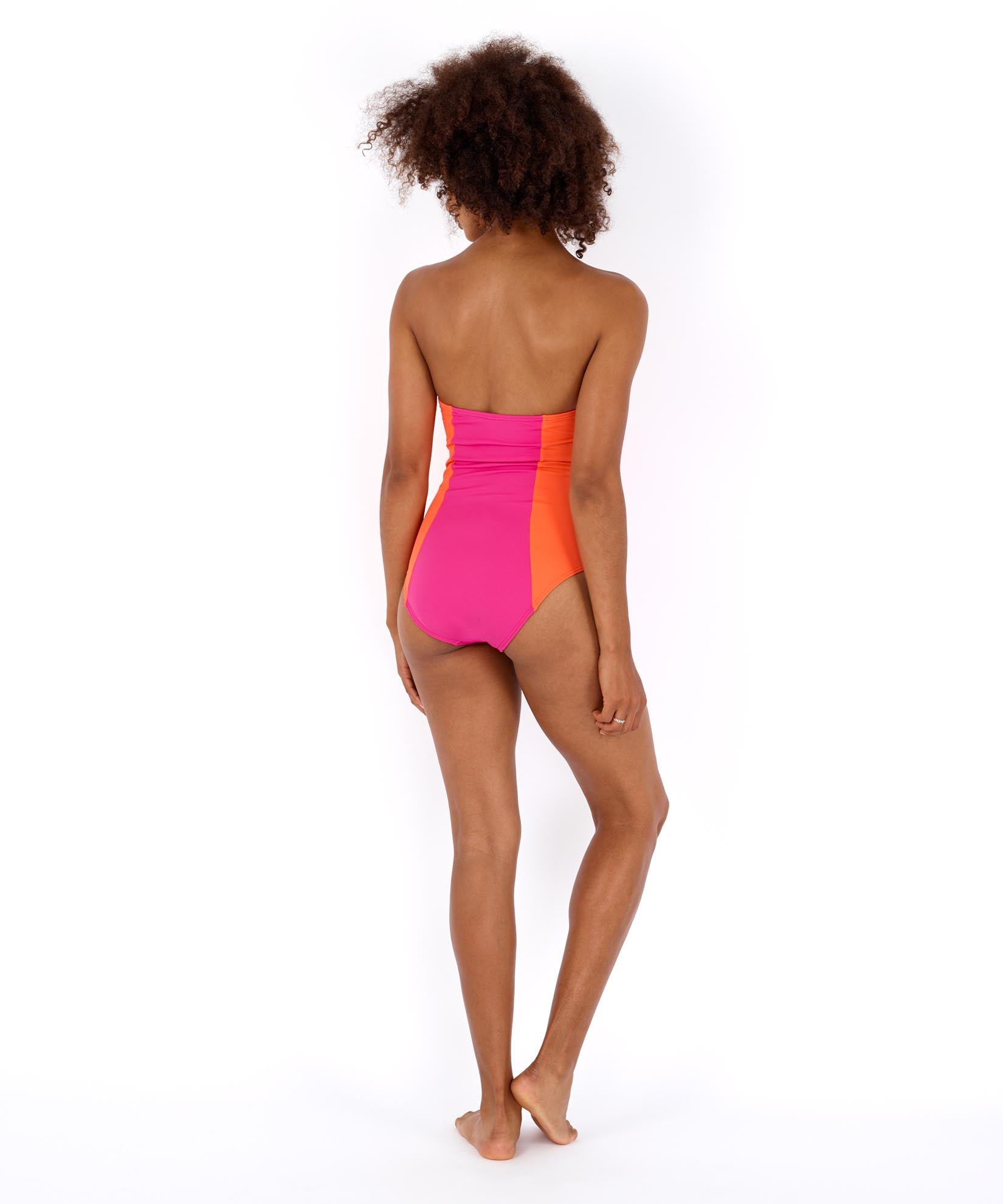 Hibiscus Pink - Colorblock Underwire One Piece