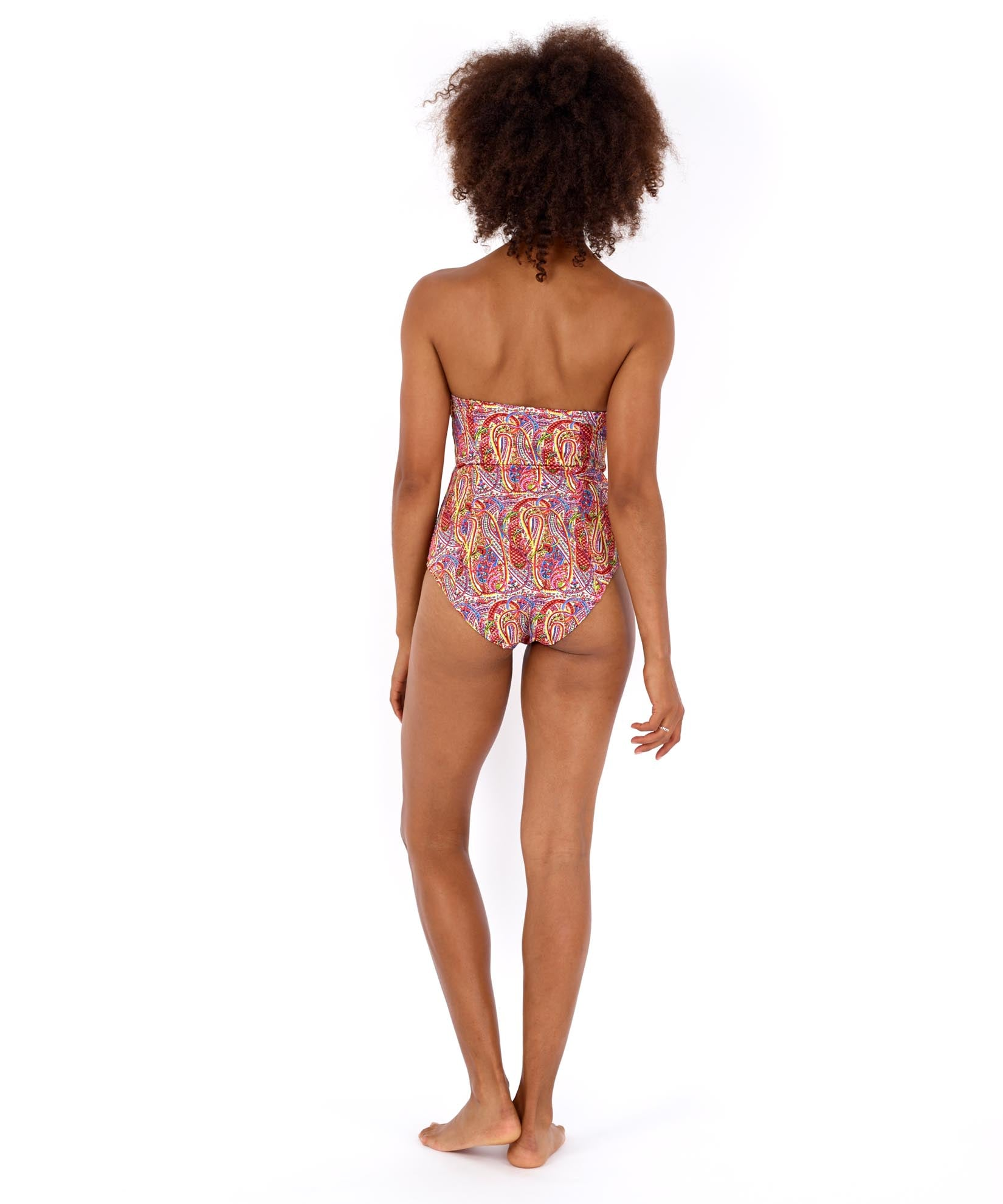 Multi - Paisley Underwire One Piece
