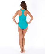 Caribbean Sea - Solid Twist Front One Piece