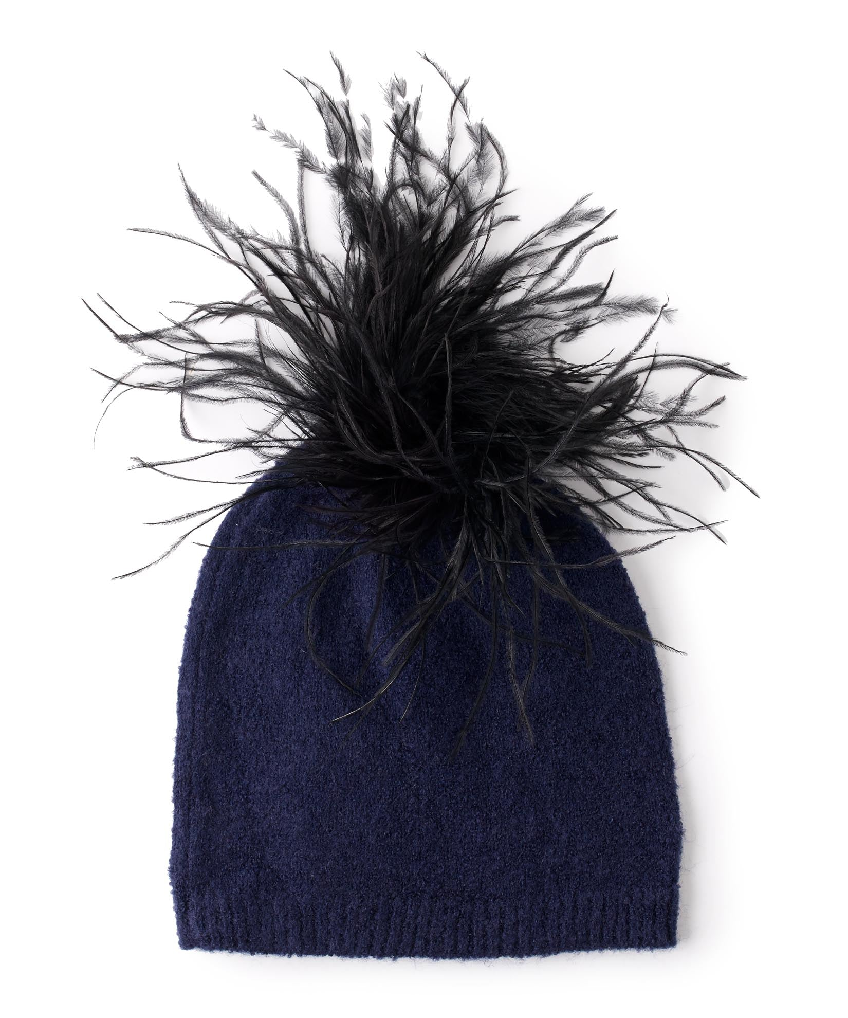 Maritime Navy - Feather Pom Hat
