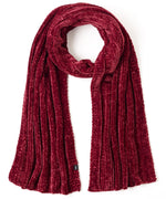 Burgundy Red - Chenille Muffler