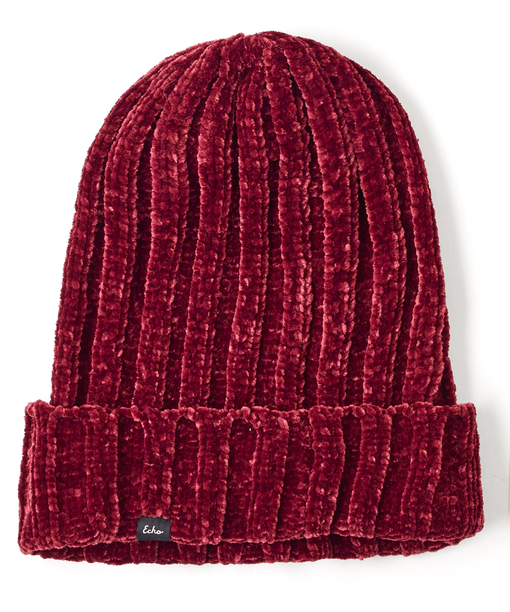 Burgundy Red - Chenille Hat