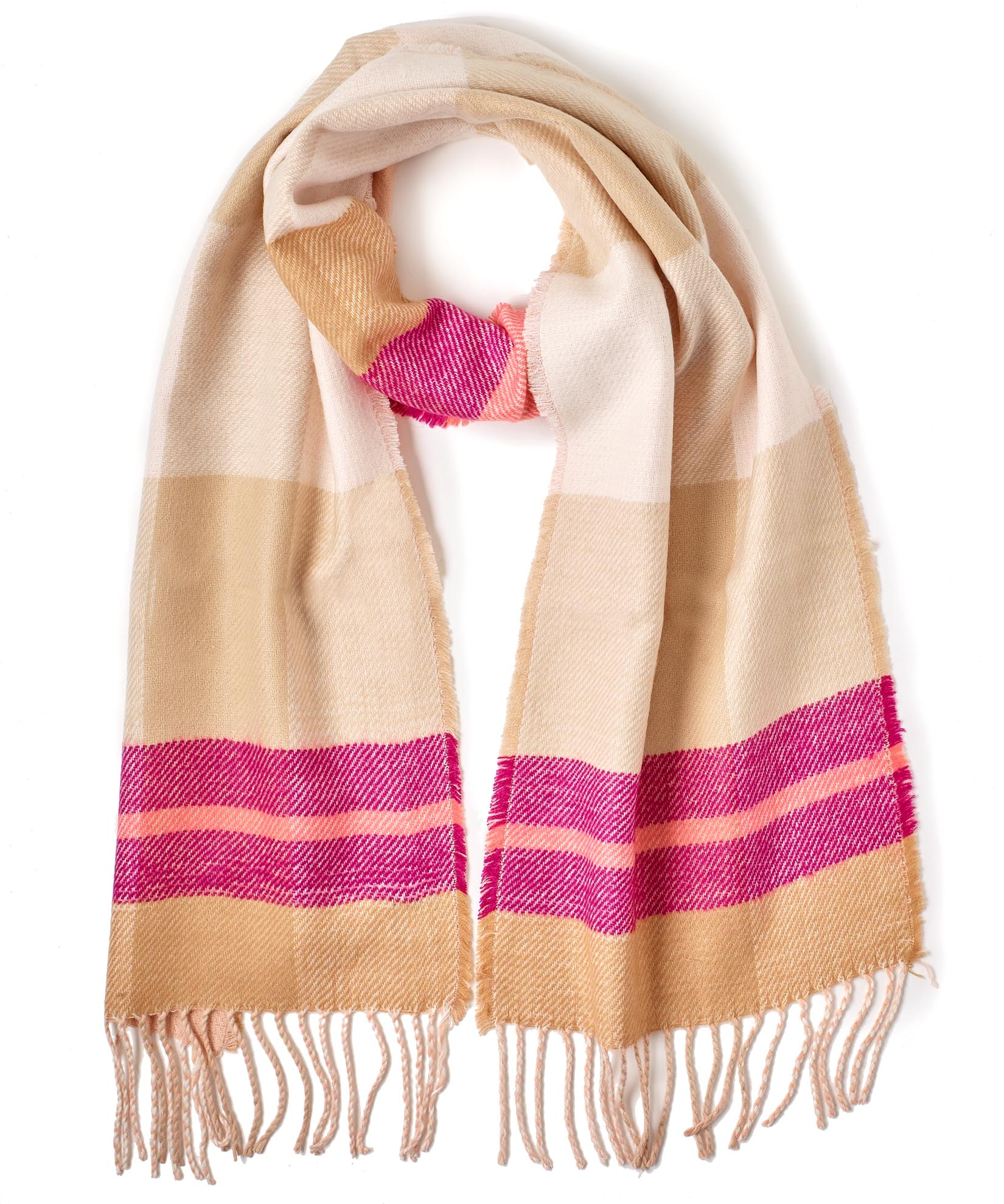 Blush - Reversible Plaid Muffler