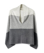 Black - Wool & Cashmere Colorblock Topper