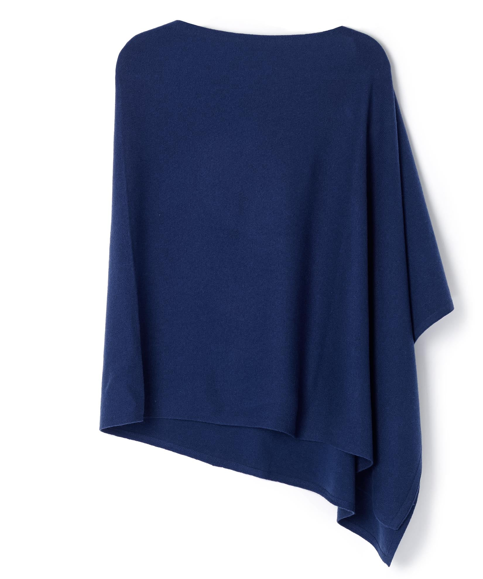 Bright Navy - Wool & Cashmere Colorblock Topper