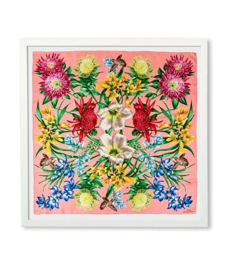 Rose Pink - Framed Blooms Of Oceania Scarf