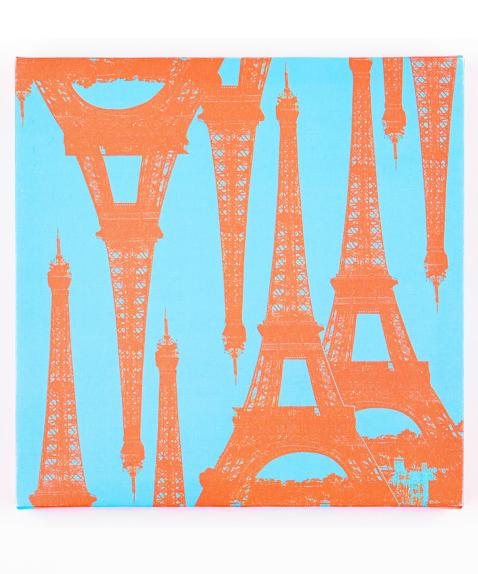 Blue/Orange - Eiffel Tower Canvas