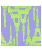 Purple/Green - Eiffel Tower Canvas