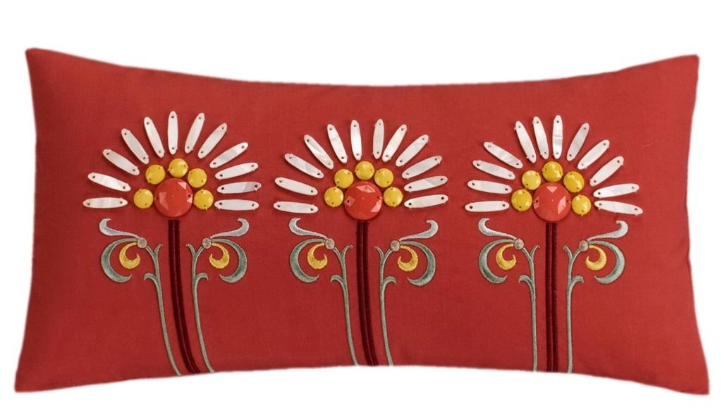 Cherry - Jaipur Oblong Embr Pillow
