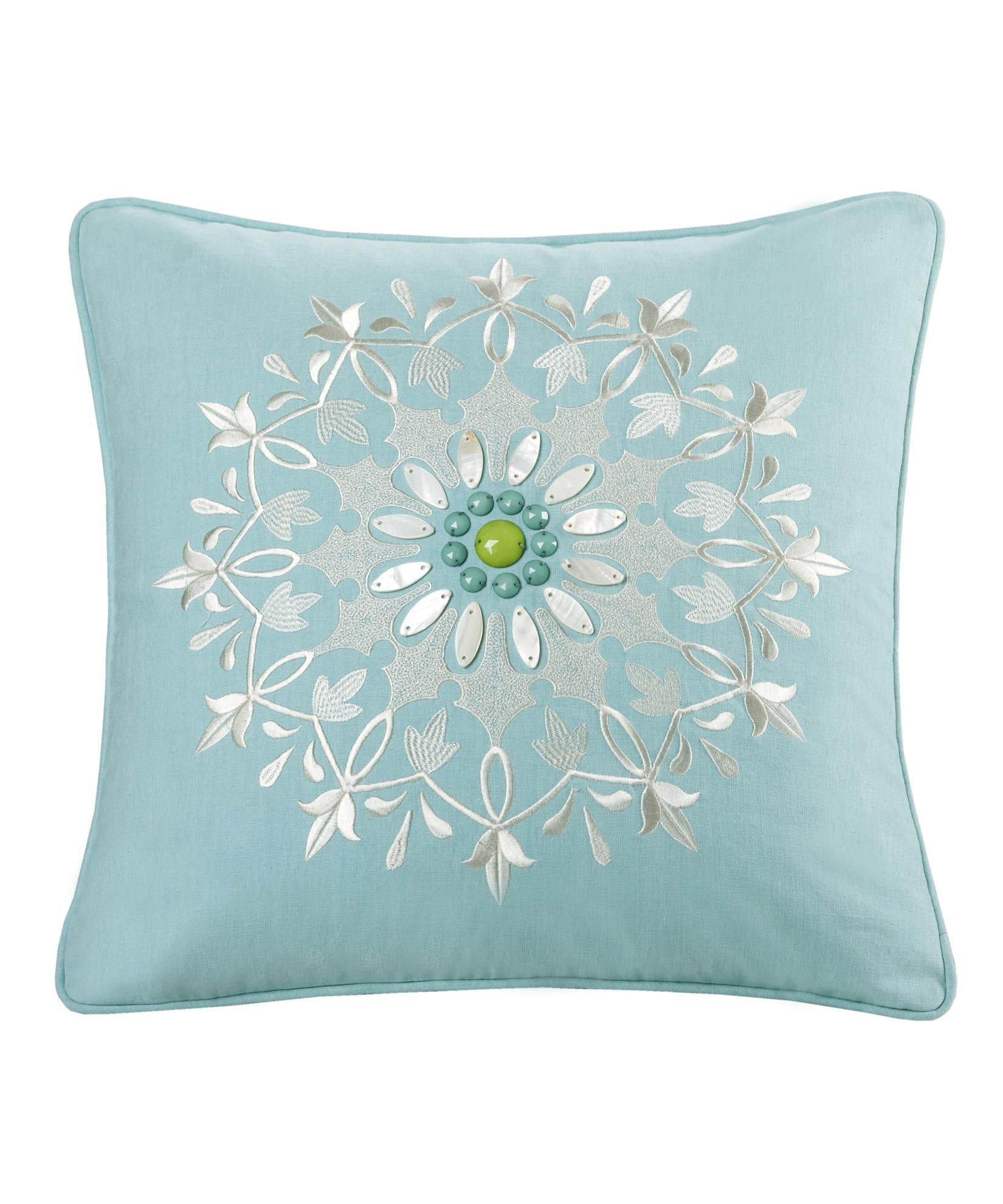Aqua - Medallion Dec Pillow