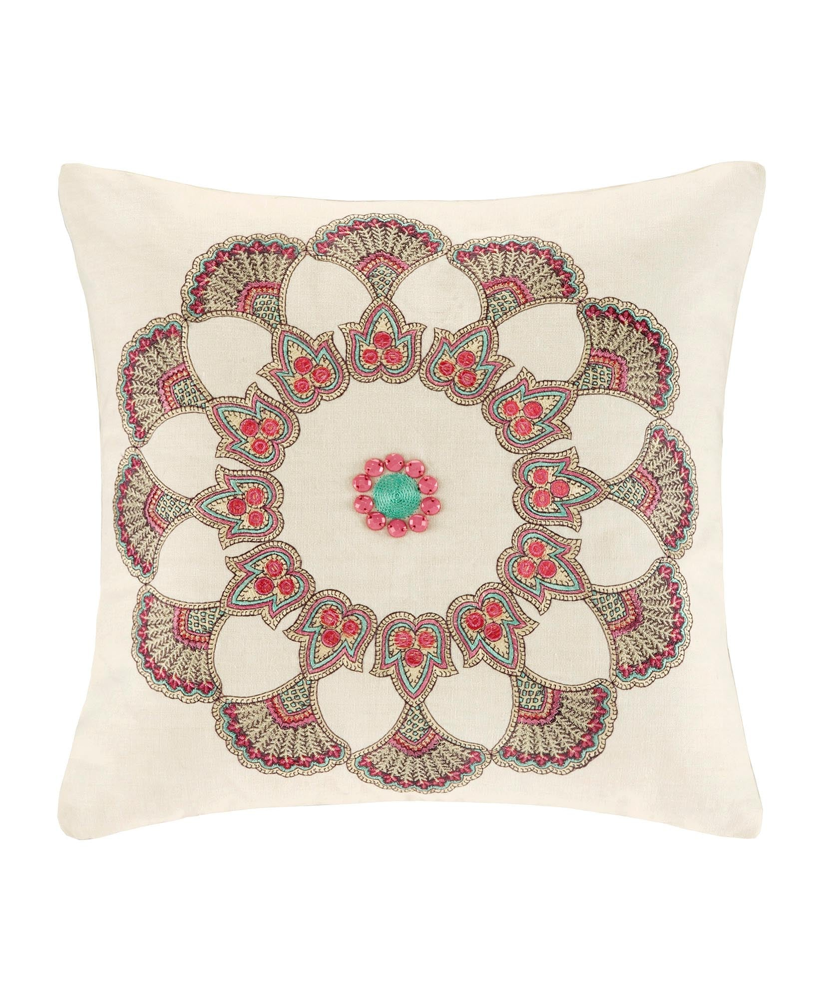 French Vanilla - Guinevere Square Pillow