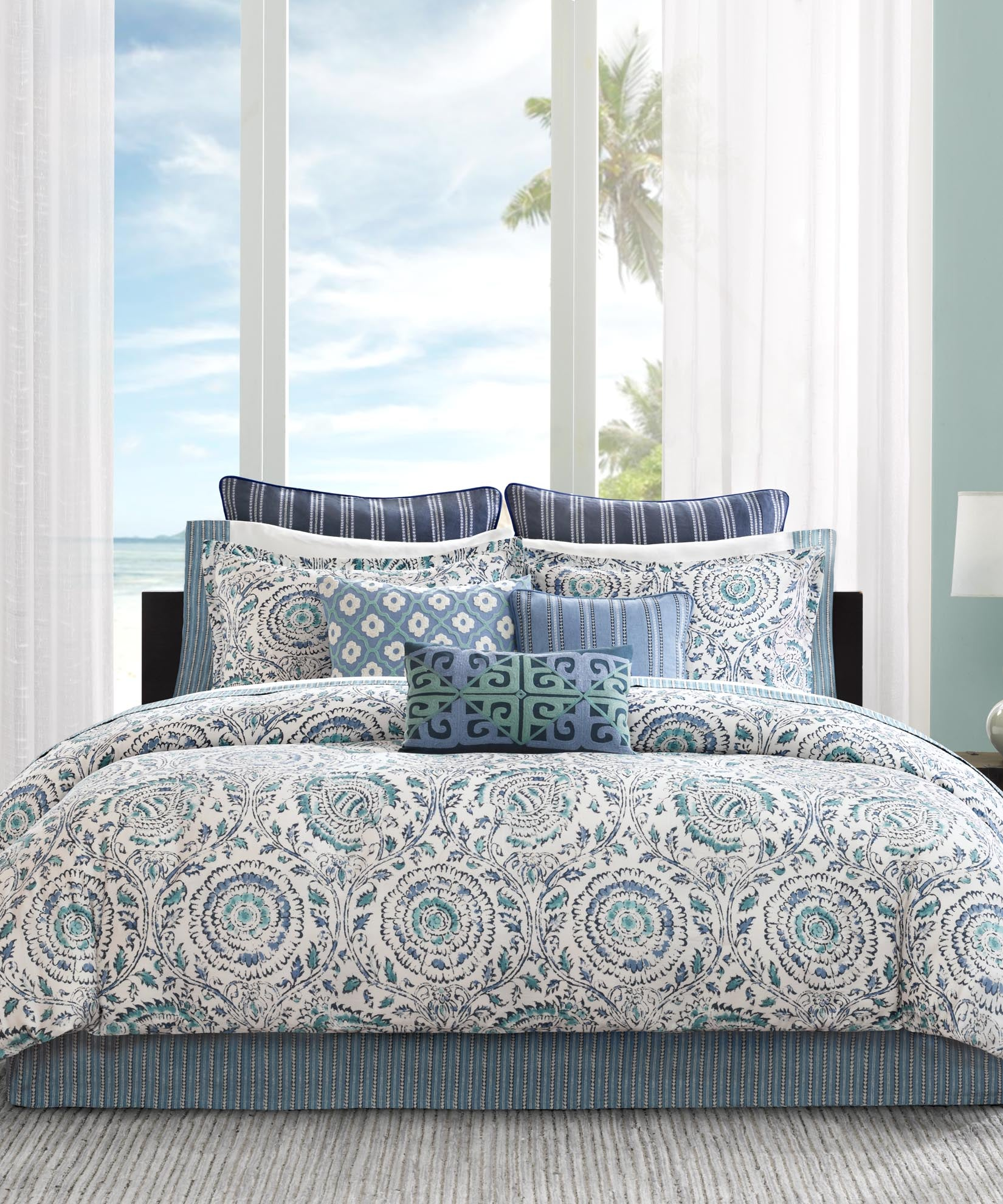 Blue - Kamala Comforter Set