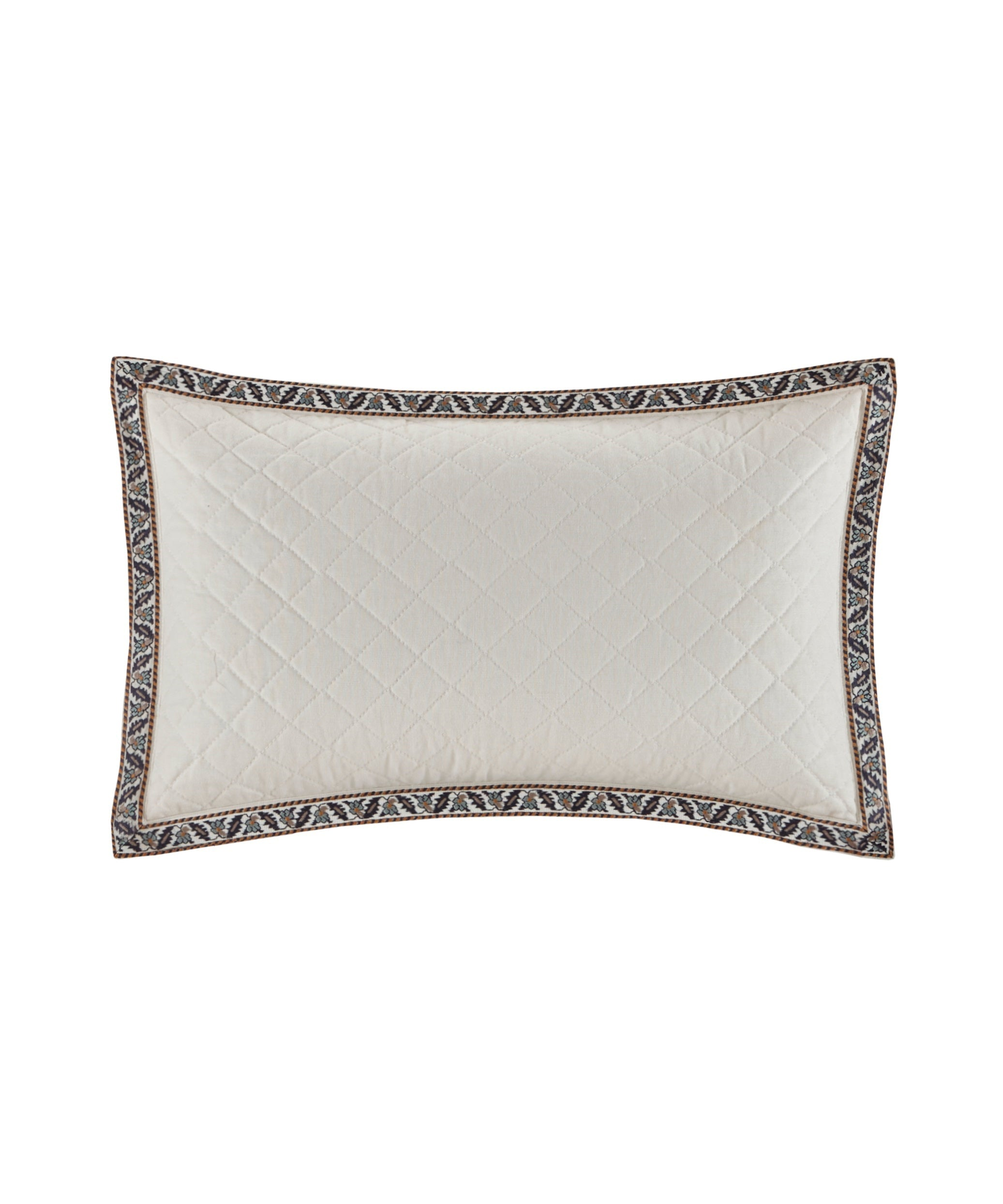 Cream - Paisley Shawl Oblong Pillow