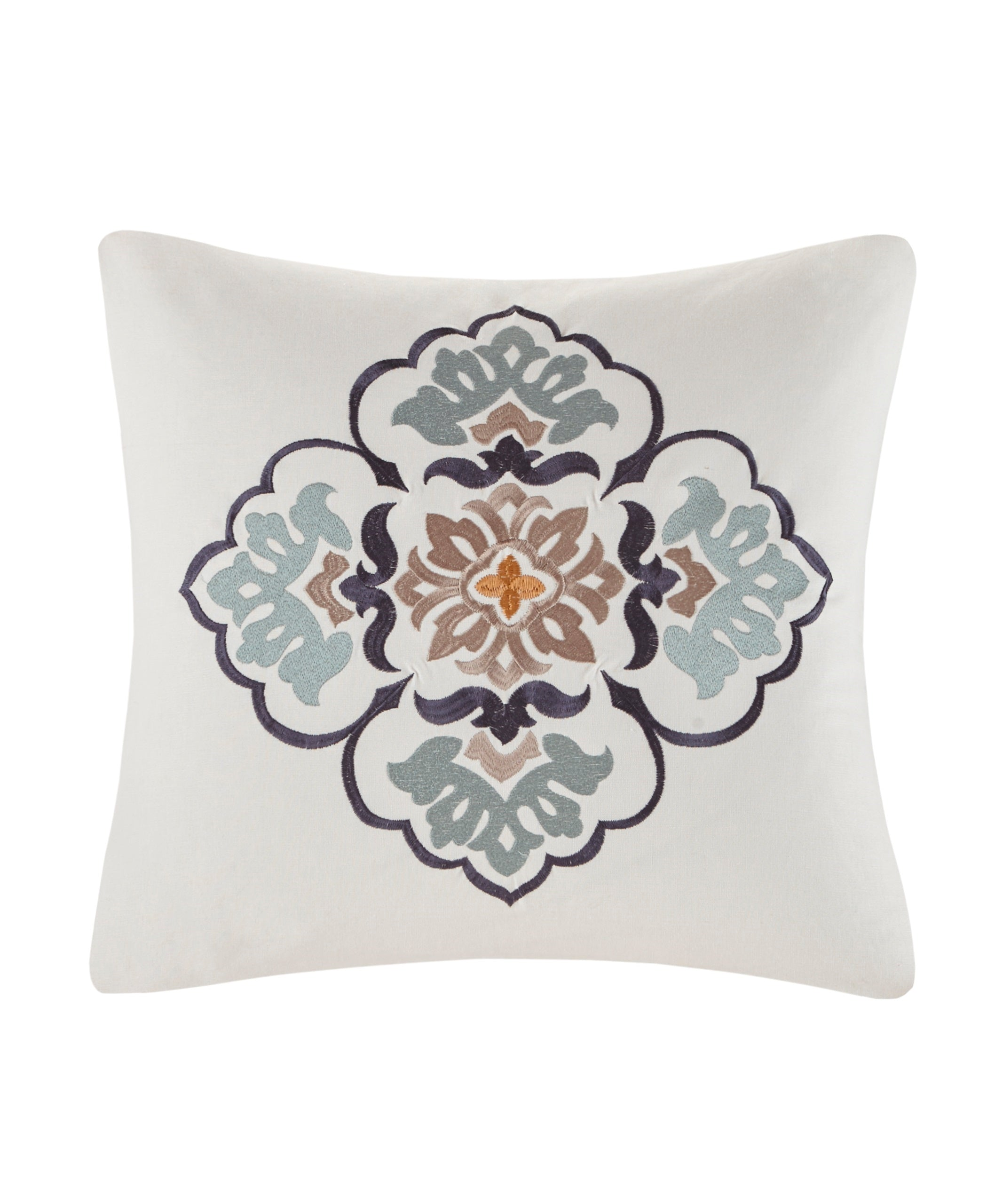 Indigo/Cream - Paisley Shawl Square Pillow