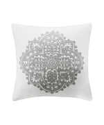 White - Bukhara Square Pillow