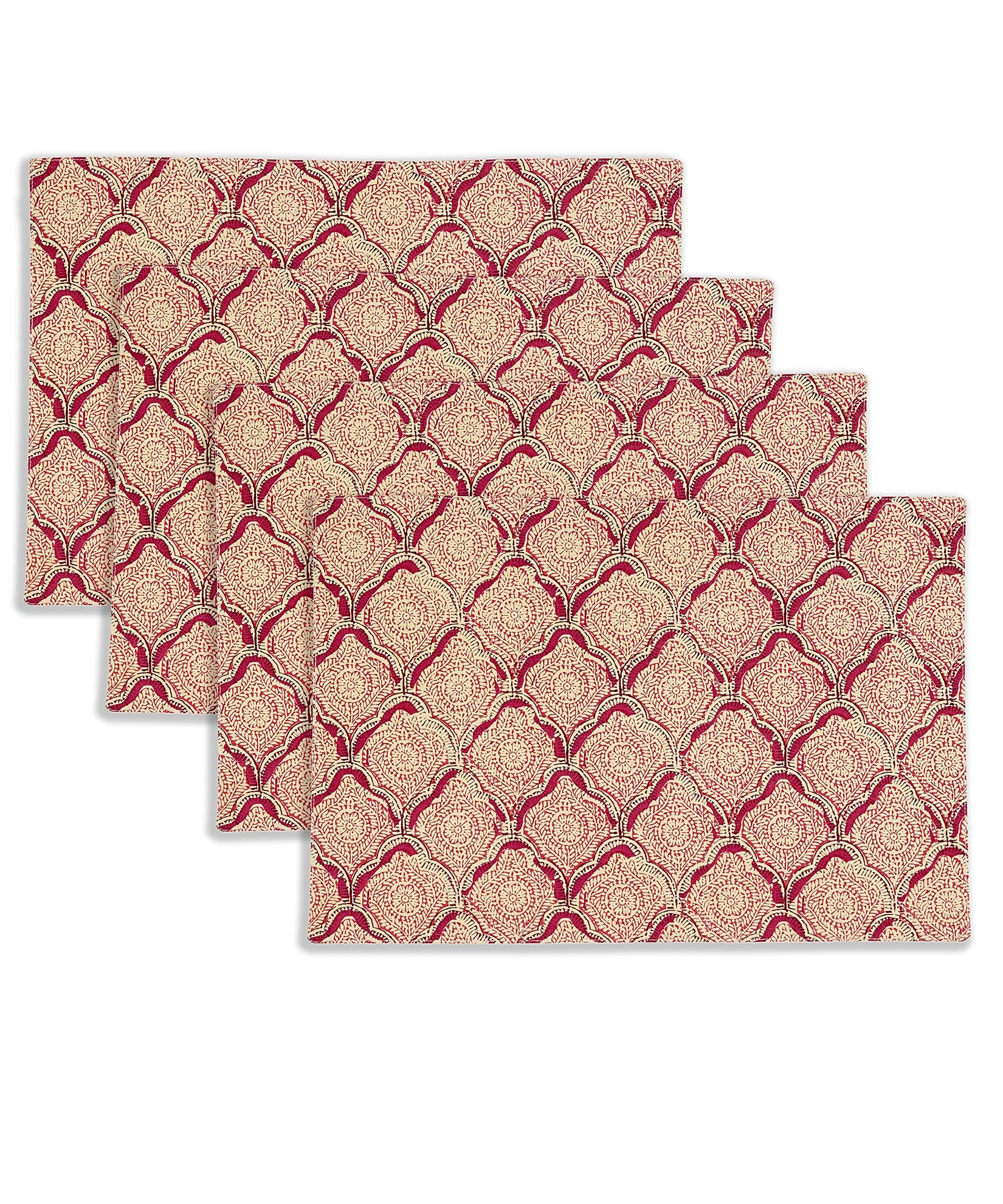 Magenta - Indian Stamp Placemat (4 Pack)