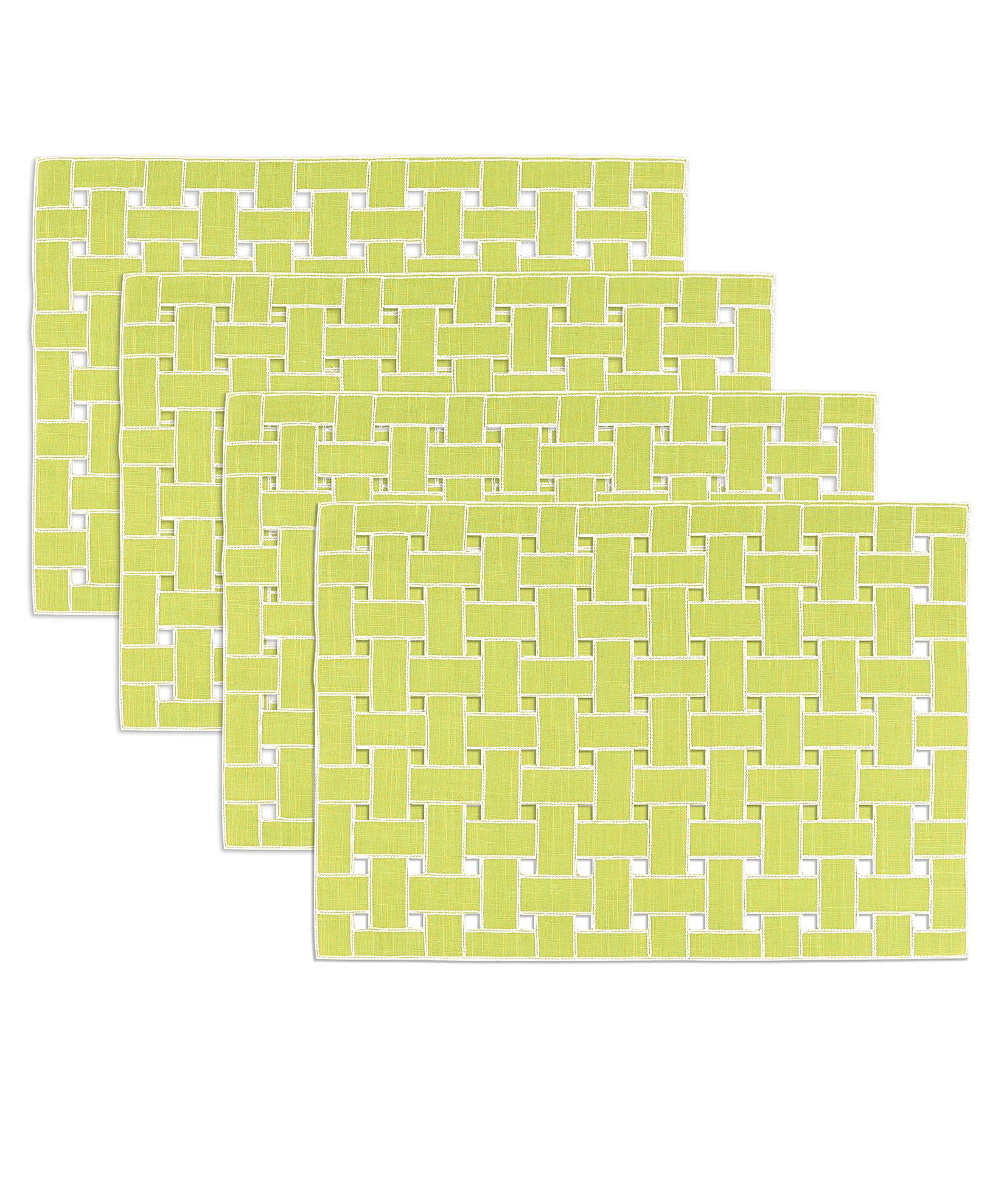 Green Glow - Lattice Placemat (4 Pack)