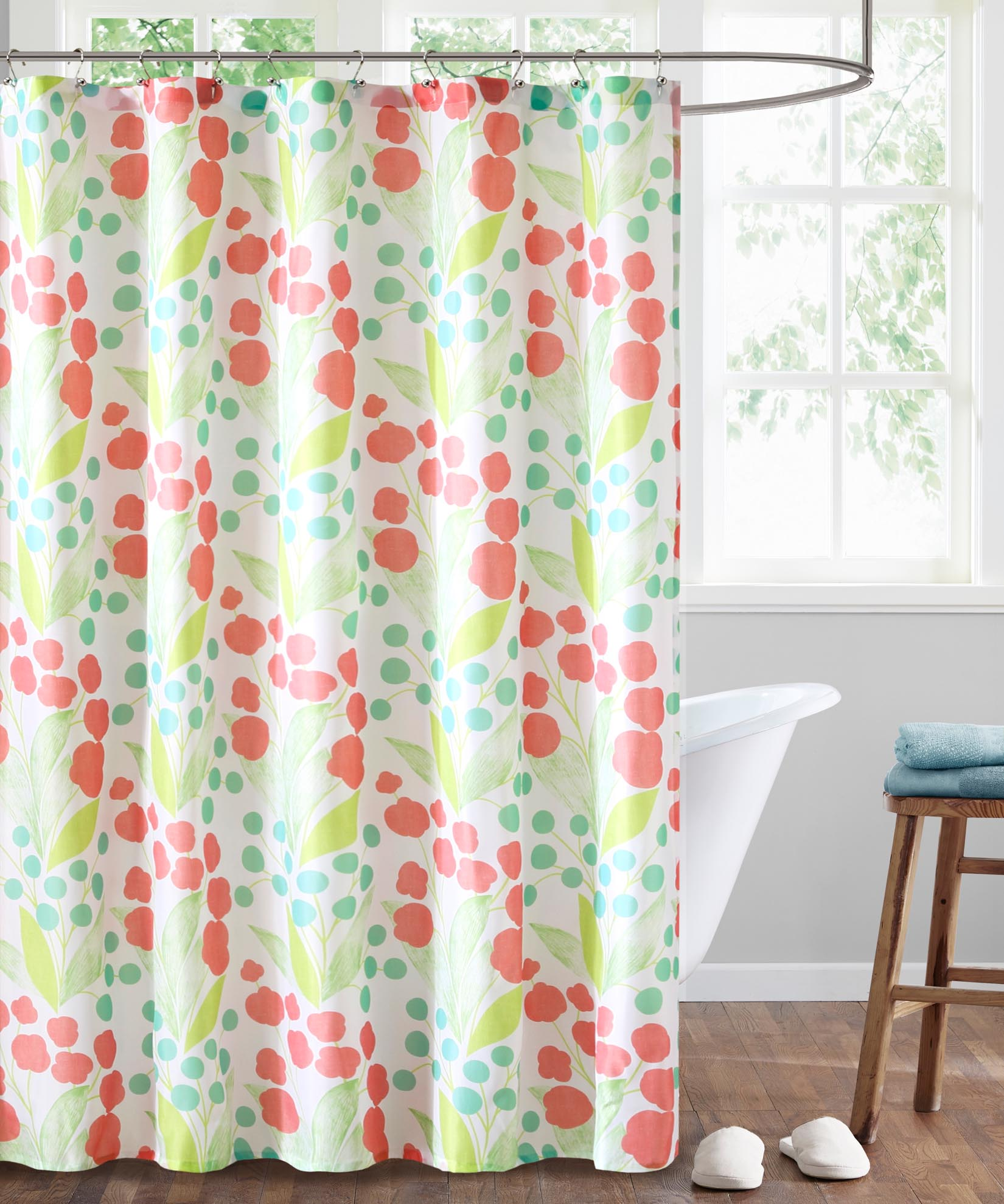 Tropical Green - Capparis Shower Curtain