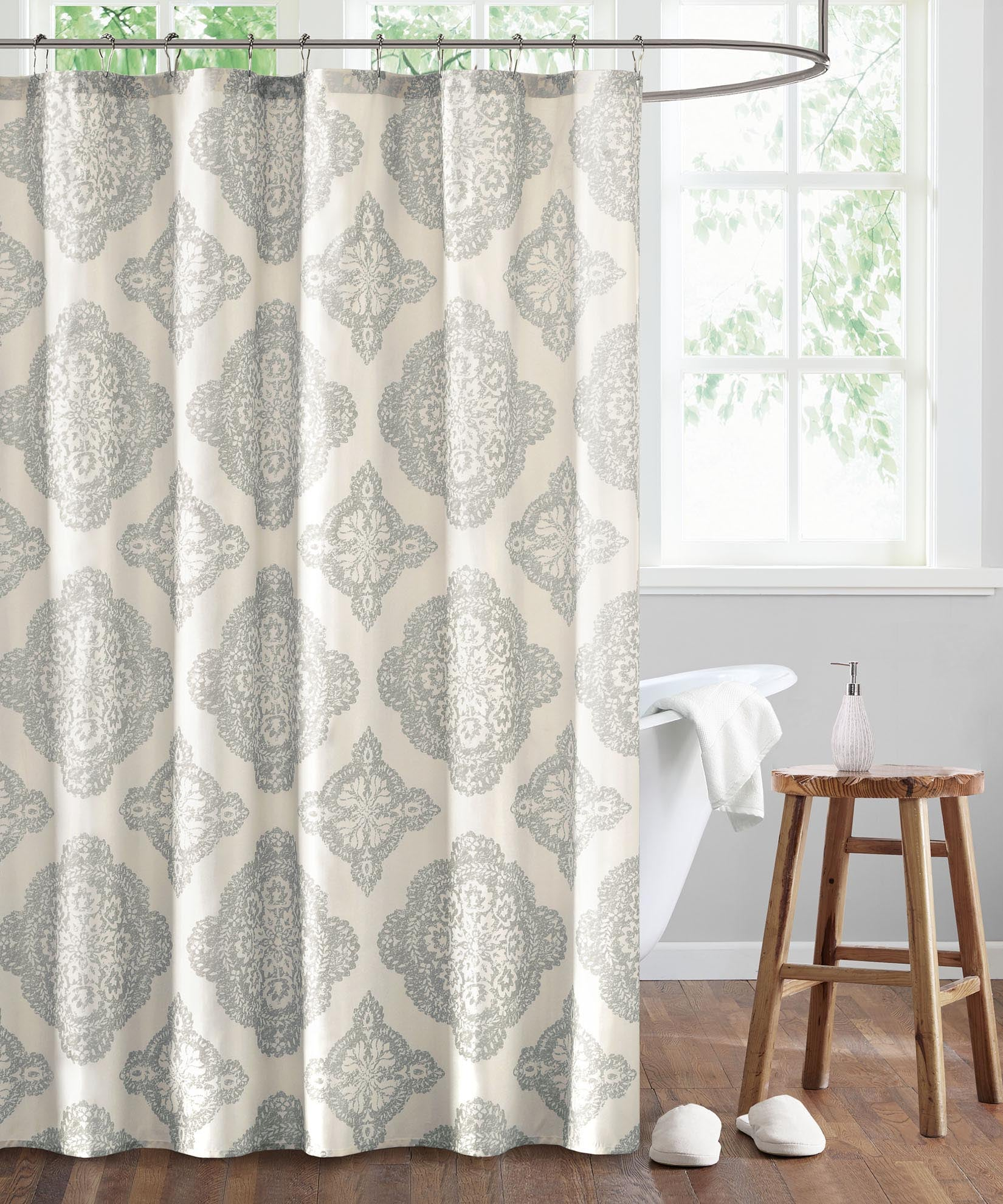 Grey - Dani Shower Curtain