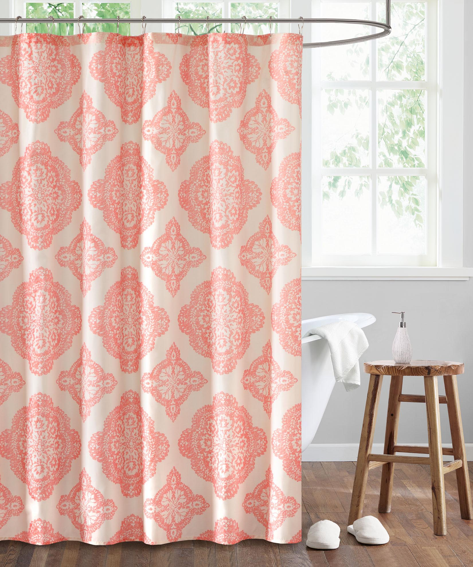 Coral - Dani Shower Curtain