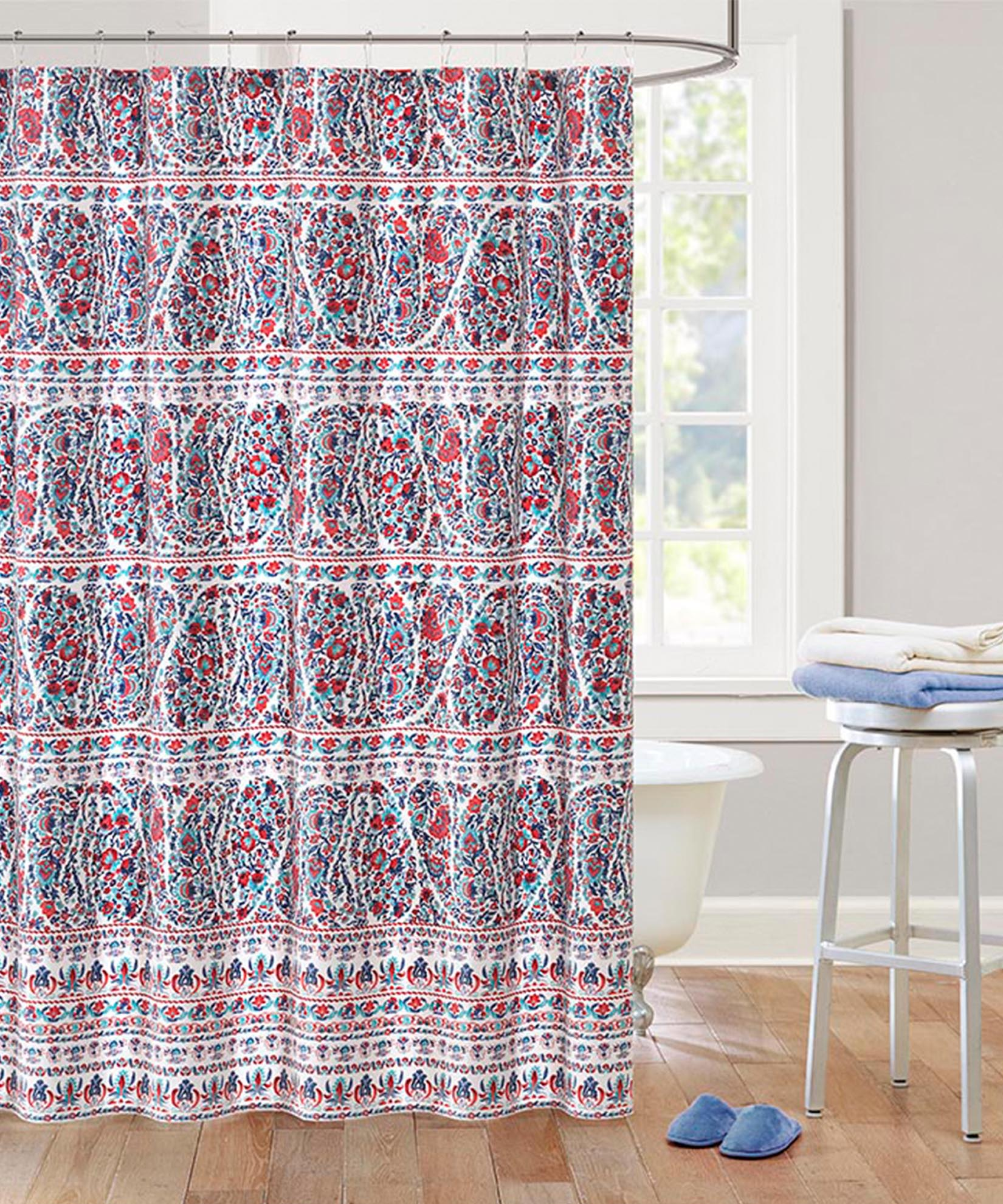 Red - Woodstock Shower Curtain