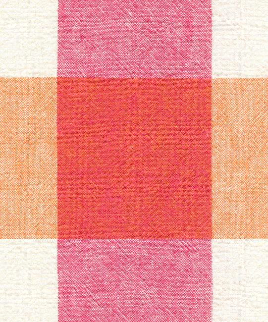 Coral - Plaid Coral Fabric