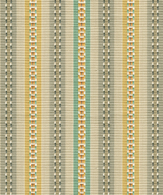 Turmeric - Heirloom Stripe Turmeric Fabric
