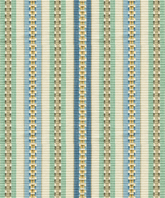 Ocean - Heirloom Stripe Ocean Fabric