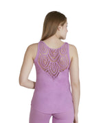Smoky Grape - Solid Lace Back Tank