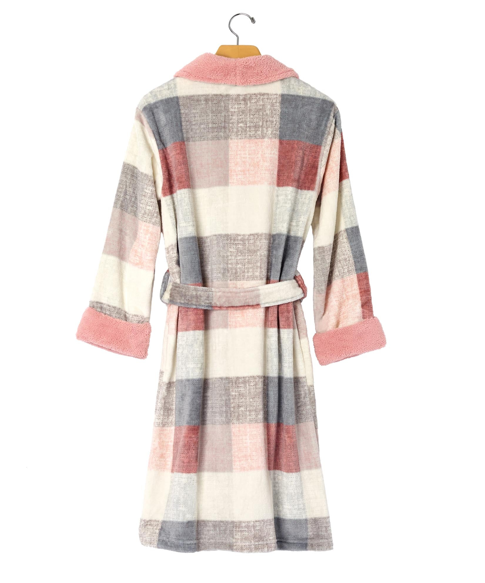 Pink - Plaid Robe
