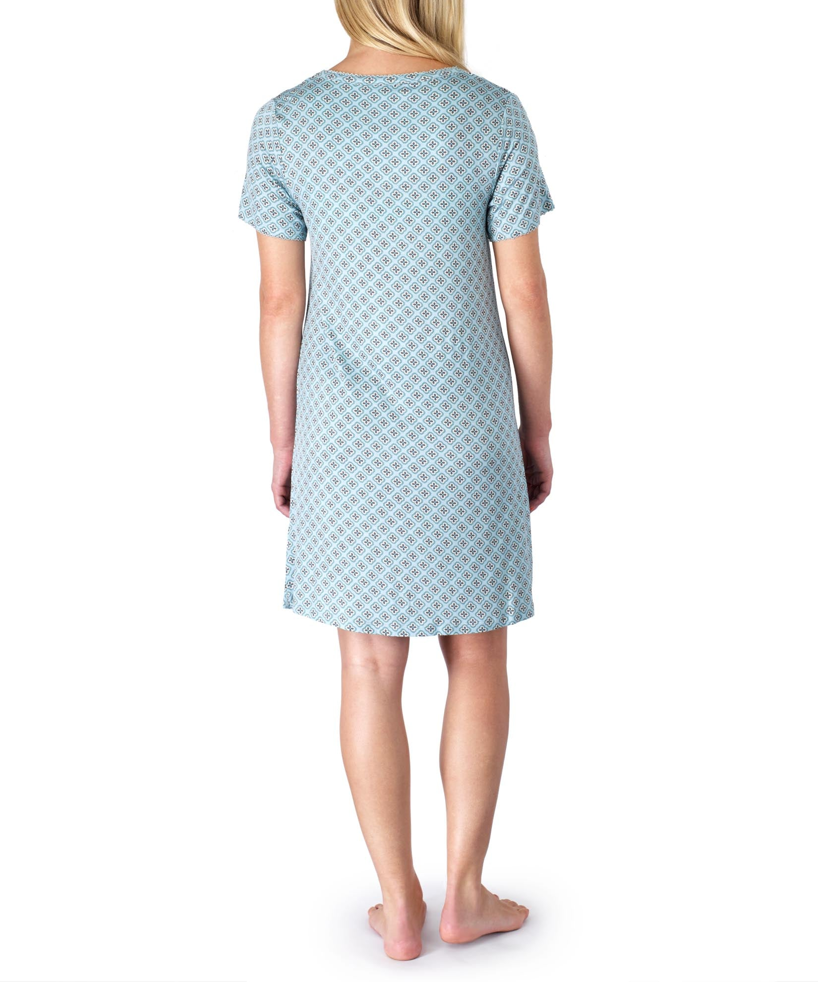 Sky Blue - Sterling Neat Ss Nightshirt